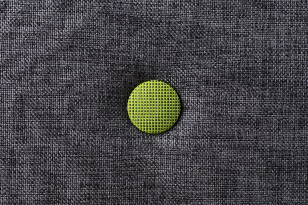 by KlipKlap Bluegrey w. green button