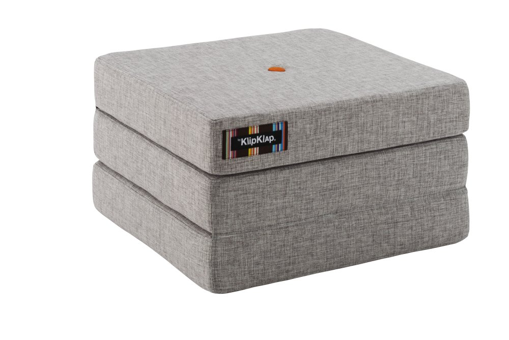 by KlipKlap KK 3fold single multigrey w. orange button