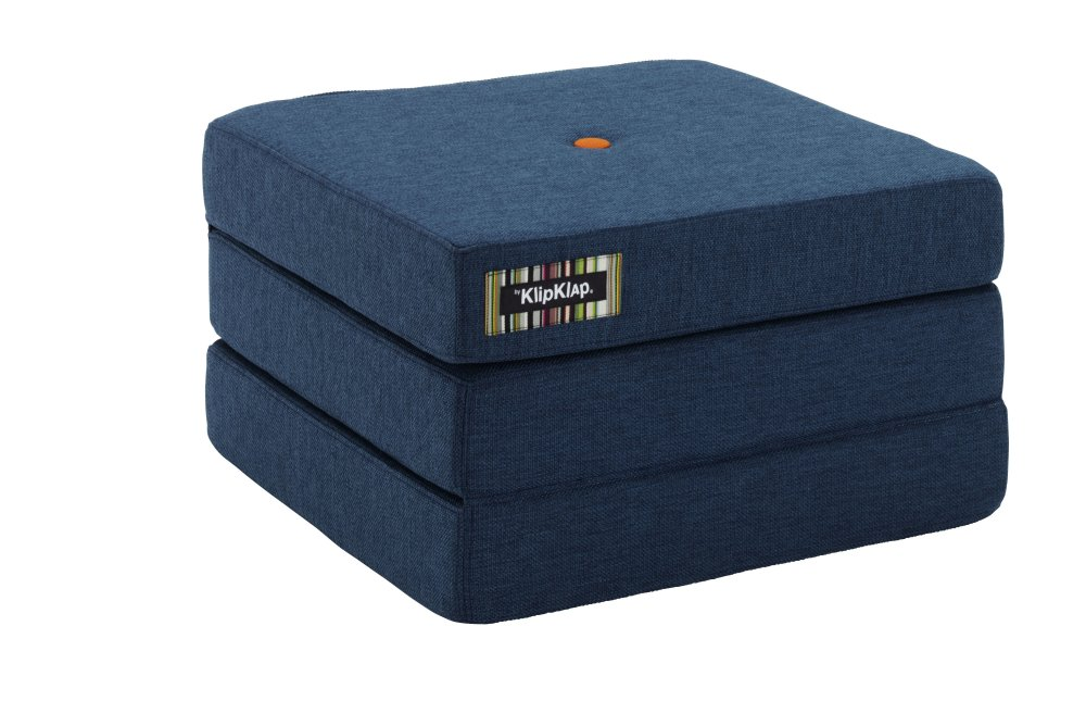 by KlipKlap KK 3fold single darkblue w. orange button